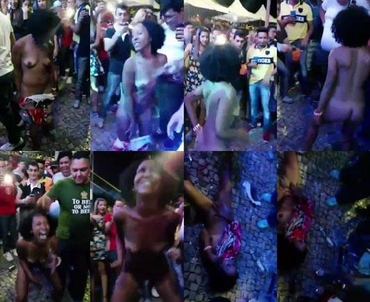 baixar Mulher doida tira a roupa e fica pelada no meio da rua! download
