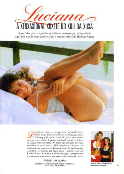 baixar Revista Playboy - Luciana Vendramini - 1987 download