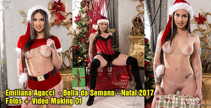 baixar Emiliana Agacci pelada no Bella da Semana (Fotos + Vídeo Making Of) - Natal 2017 download
