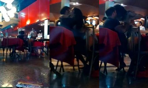 baixar Casal é flagrado trasando no restaurante, todo mundo viu download